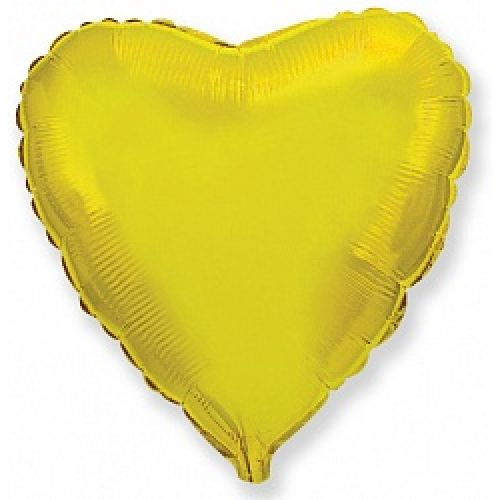 Ф. Сердце (без рис) (18''/46 см) Аэродизайн; Золото