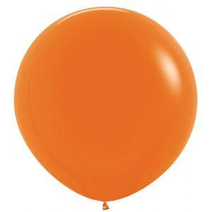 Л. Шар (без рис) (27''/69 см) Большие шары; Оранжевый