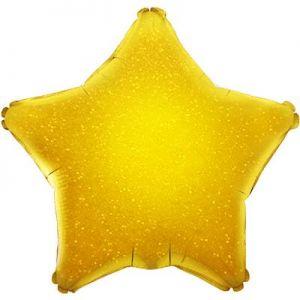 Ф. Звезда (без рис) (18''/46 см) Аэродизайн - Голография -; Золото