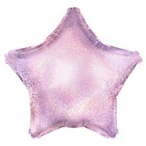 Ф. Звезда (без рис) (18''/46 см) Аэродизайн - Голография -; Розовый