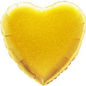 Ф. Сердце (без рис) (18''/46 см) Аэродизайн - Голография -; Золото