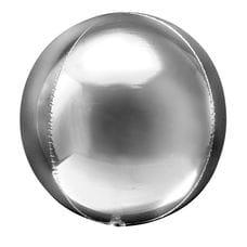Ф. 3D СФЕРА (20''/51 см) ВUBBLES; Серебро