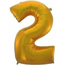 """Ф. Цифра (40''/102 см) Цифры - """"2"""" -; Золото"""