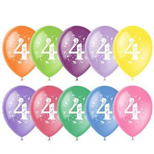 Л. Шар (с рис) (12''/30 см) Цифры3 - Цифра Четыре -; Ассорти; Пастель+Декоратор
