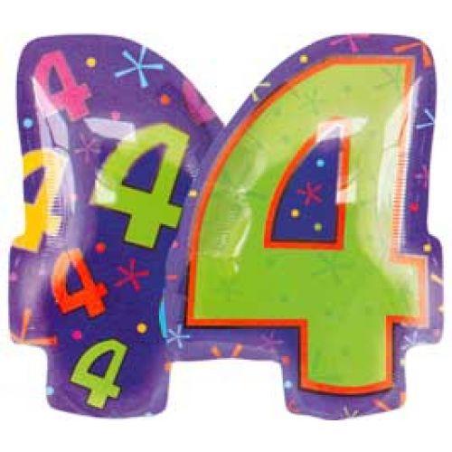 Ф. Цифры (18''/46 см) Цифры - 4 ФИГУРА Мульти -
