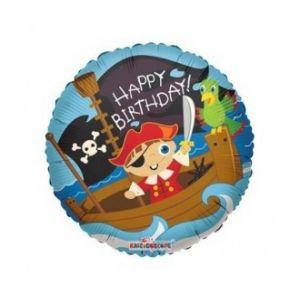 Ф. Круг (с рис) (18''/46 см) С днем рождения - Анг Пираты  -