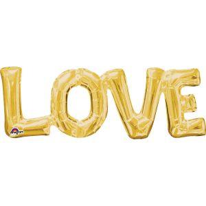 """Ф. Фигура (25""""/64 см) Любовь - Буквы - LOVE -; Золото"""