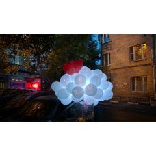 Облако светящиеся шарики, светящиеся воздушные шары с обработкой