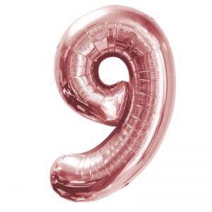 """Ф. Цифры (40''/102 см) Цифры - """"9"""" -; Розовое Золото"""