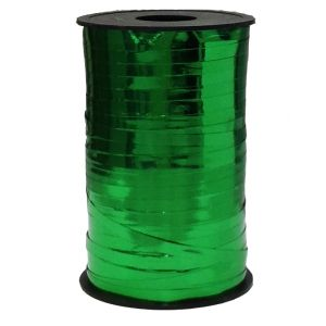 Бобина ленты для шариков металлизированная - Зеленый