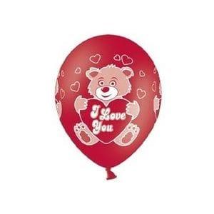 Л. Шар (с рис) (14''/36 см) Романтика2 - Мишка Влюбленный -; Красный