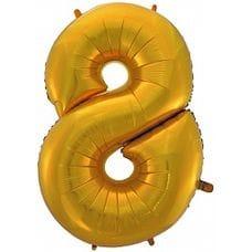 """Ф. Цифра (40''/102 см) Цифры - """"8"""" -; Золото"""