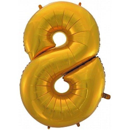 """Ф. Цифры (40''/102 см) Цифры - """"8"""" -; Золото"""