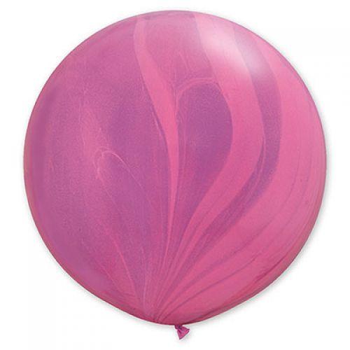 Мраморный шар 70см фиолетовый