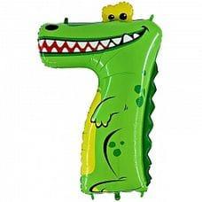 """Ф. Цифра (40''/102 см) Цифры - """"7"""" Крокодил в упаковке -"""