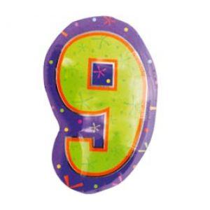 Ф. Цифра (18''/46 см) Цифры - 9 ФИГУРА Мульти -
