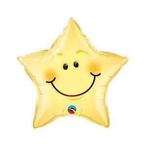 Ф. Звезда (с рис) (20''/51 см) Мальчики - Звезда улыбающаяся -; Желтый