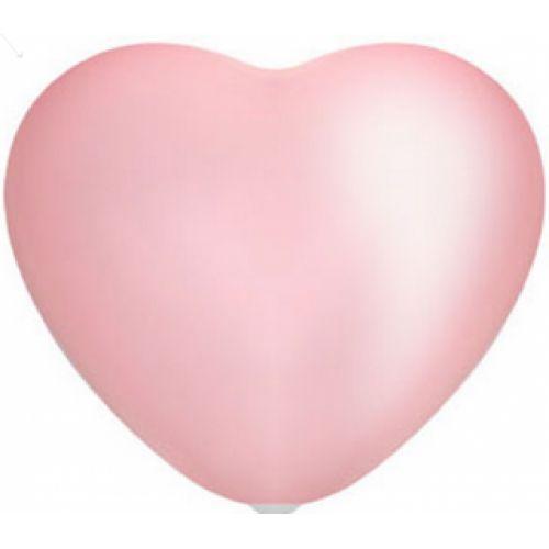 """Л. Сердце (без рис) (10""""/25 см) Сердца без рисунка; Розовый; пастель"""