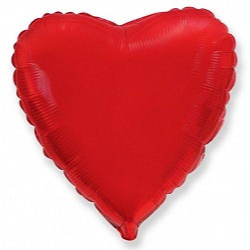 Ф. Сердце (без рис) (18''/46 см) Аэродизайн; Красный