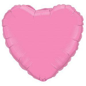 Ф. Сердце (без рис) (18''/46 см) Аэродизайн; Розовый
