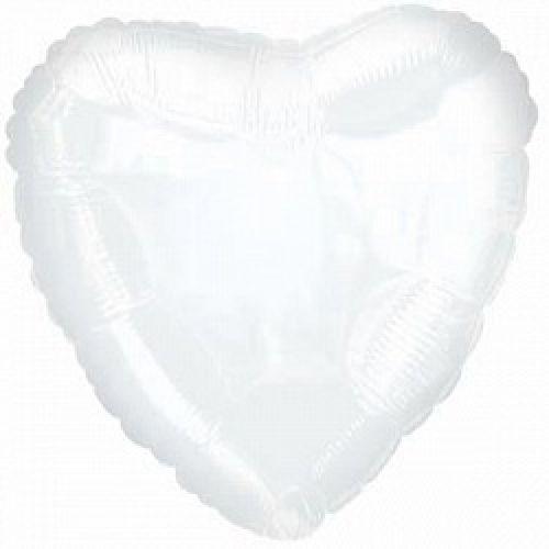 Ф. Сердце (без рис) (18''/46 см) Аэродизайн; Белый