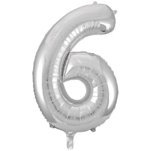 "Ф. Цифра (34''/86 см) Цифры - ""6"" -; Серебро"