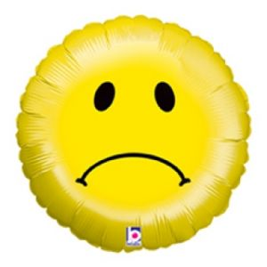 Ф. Круг (с рис) (18''/46 см) Мальчики - Смайлик грустный -; Желтый