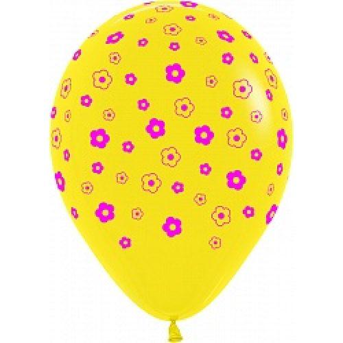Л. Шар (с рис) (12''/30 см) Новинки - Цветы -; Желтый
