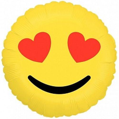 Ф. Круг (с рис) (18''/46 см) Любовь - Смайл (влюбленный) -