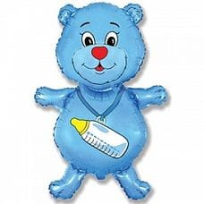 Ф. Фигура (36''/91 см) Новорожденные мальчики - Медвежонок-мальчик -; Синий