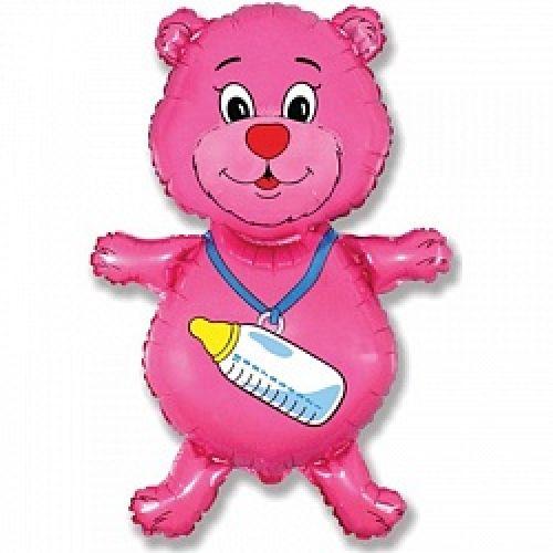 Ф. Фигура (36''/91 см) Новорожденные девочки - Медвежонок-девочка -; Розовый