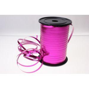 Бобина ленты для шариков металлизированная - Розовая