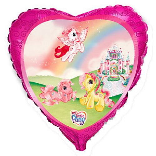Ф. Сердце (с рис) (18''/46 см) Девочки - Моя маленькая пони в замке -