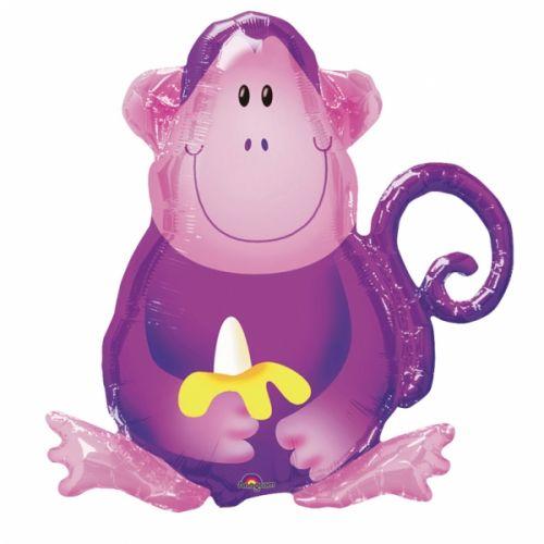 Ф. Фигура (28''/71 см) - Мартышка с бананом -; Фиолетовый