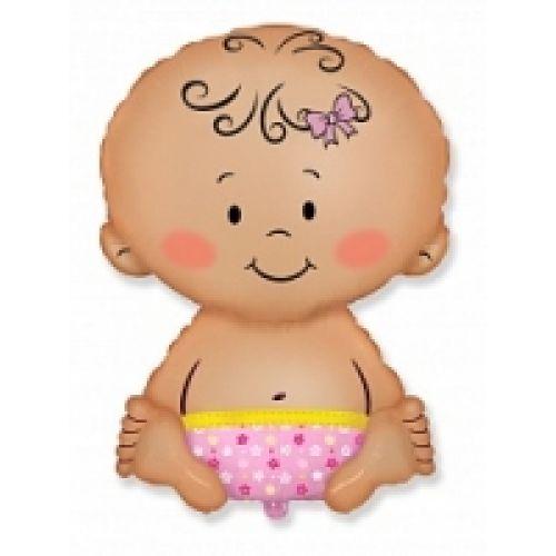 Ф. Фигура (33''/84 см) Новорожденные девочки - Малышка девочка -; Розовый
