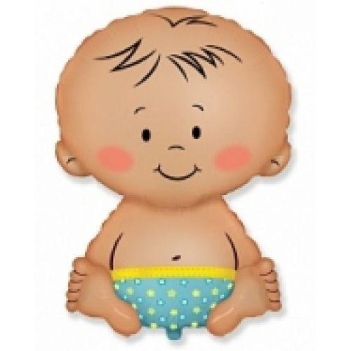 Ф. Фигура (33''/84 см) Новорожденные мальчики - Малыш мальчик -; Голубой