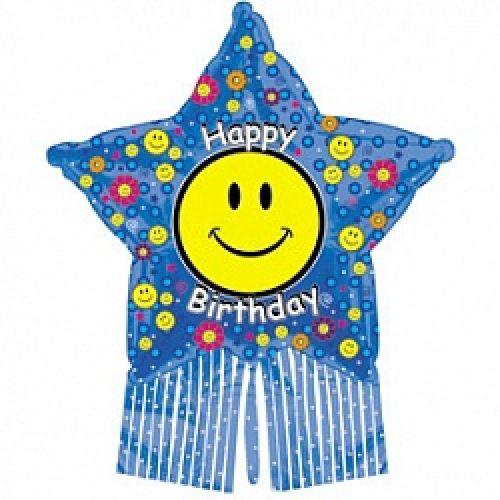 Ф. Фигура (38''/97 см) С днем рождения - Счастливая звезда -; Синий