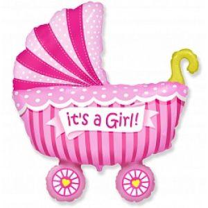Ф. Фигура (40''/102 см) Новорожденные девочки - Коляска для девочки -; Розовый