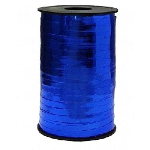 Бобина ленты для шариков металлизированная - Синий