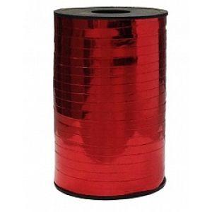 Бобина ленты для шариков металлизированная - Красный
