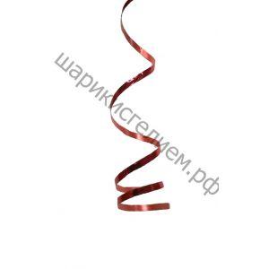 Ленточка для шариков металлизированная - красный