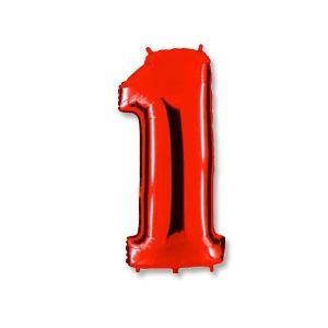 """Ф. Цифра (40''/102 см) Цифры - """"1"""" -; Красный"""