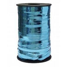 Бобина ленты для шариков металлизированная - Голубой