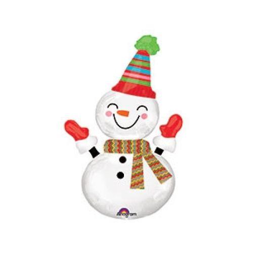 Ф. Фигура (24''/61 см) Новый Год - Снеговик улыбчивый -
