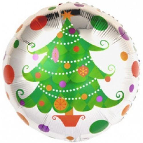 Ф. Круг (с рис) (18''/46 см) Новый Год - Новогодняя елка -
