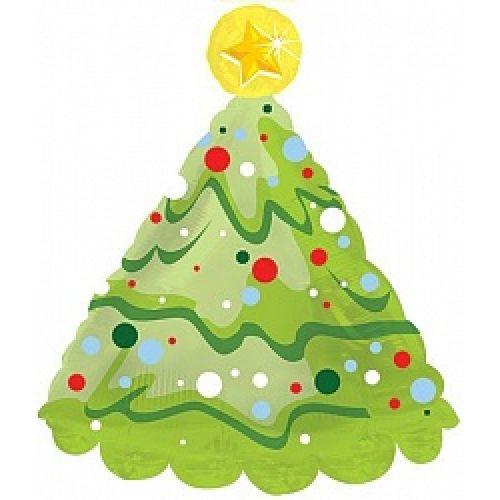 Ф. Фигура (30''/76 см) Новый Год - Елка новогодняя -; Зеленый