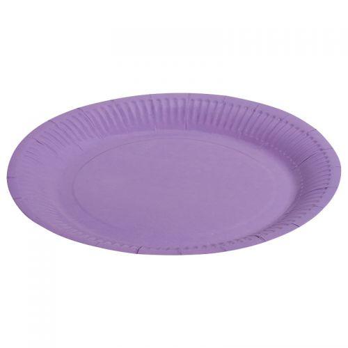 Тарелка - однотонная, сиреневый, 9 дюймов, 6шт
