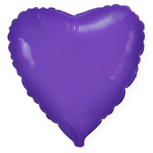 Ф. Сердце (без рис) (18''/46 см) Аэродизайн; Фиолетовый